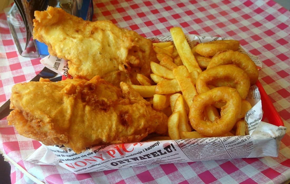 porcja od fish and chips
